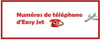 numéro de téléphone pour contacter Easy Jet