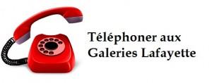 contact téléphone Galeries Lafayette