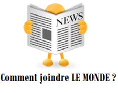 coordonnées du journal LE MONDE