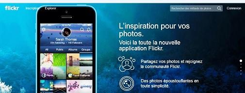 coordonnées de contact flickr