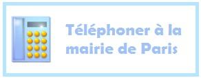 Numéro de téléphone de la mairie de Paris