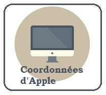 coordonnées de contact Apple