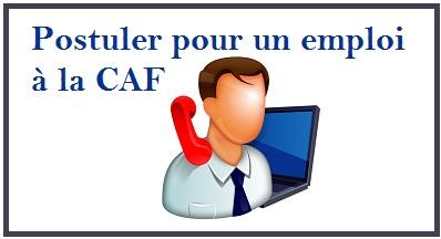 Contacter la Caf pour un emploi