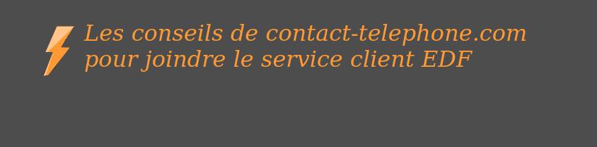 service client edf