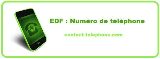 EDF : Numéro de téléphone