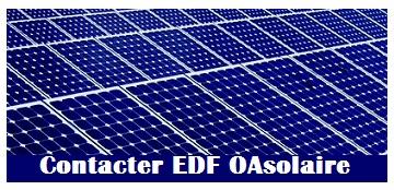 Contact EDF oasolaire