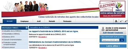 contact internet CNRACL