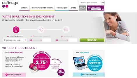 contacter Cofinoga par e-mail, simulation de crédit, etc...