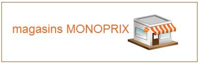 Coordonnées des magasins Monoprix
