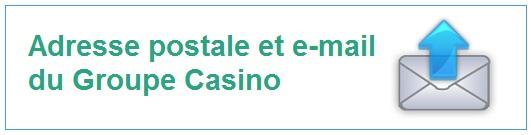 Adresse postale et email de casino