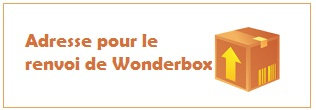 Adresse postale de Wonderbox