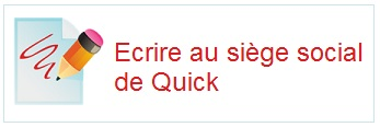 Contacter Quick par courrier