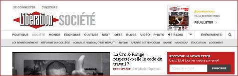 Formulaire de contact de Libération