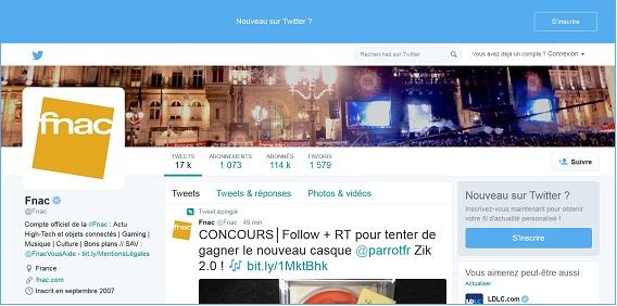 Contacter sur Twitter