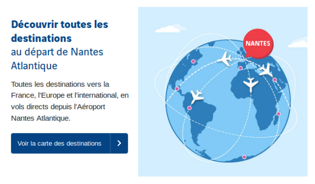 destinations aeroport nantes
