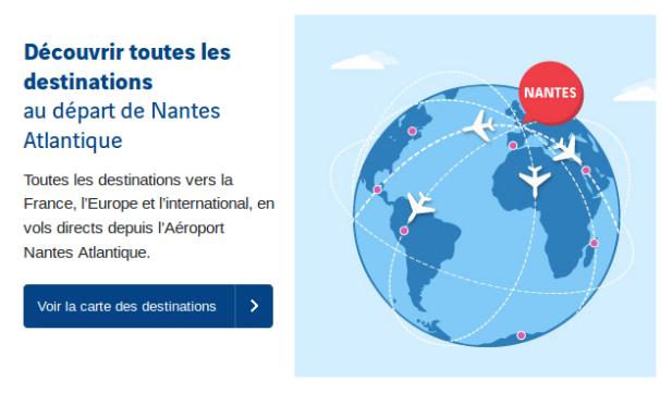 destinations aeroport nantes