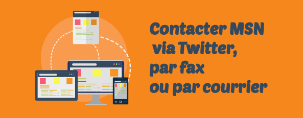 MSN contacts fax courrier
