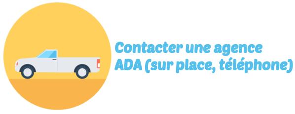 contact agence ADA