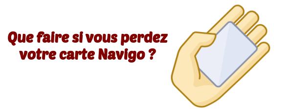 perte carte Navigo