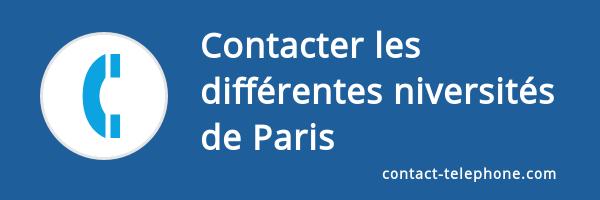 contact telephone universite paris