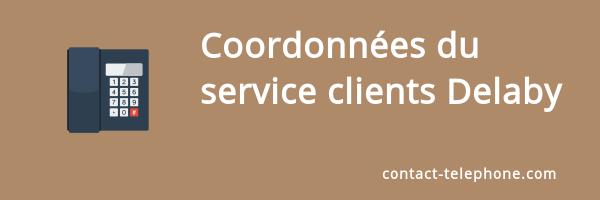 coordonnees service client delaby