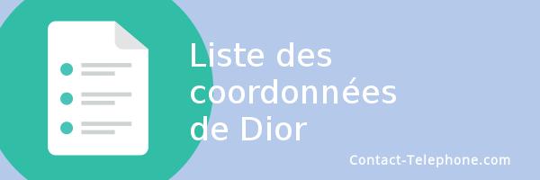 liste coordonnees dior