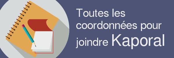 coordonnees kaporal