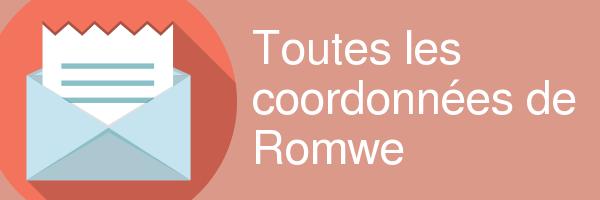 coordonnees romwe
