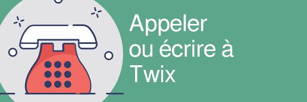 twix telephone courrier