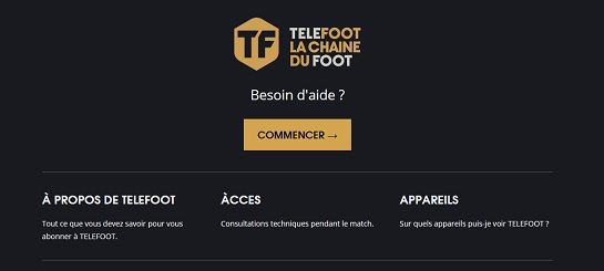 Assistance Telefoot - la chaine du foot