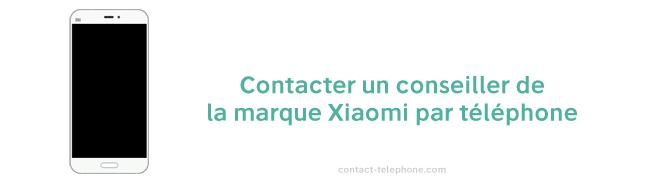 Xiaomi contact par telephone