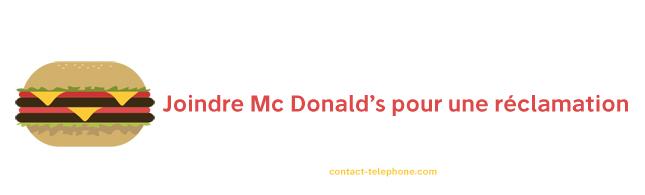 Contacter Mc Donald's