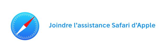 Assistance Safari Apple