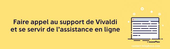 Contact assistance Vivaldi