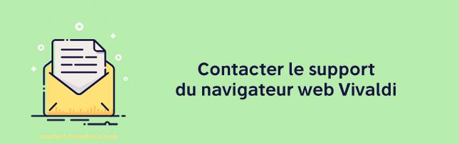 Contacter le support web Vivaldi