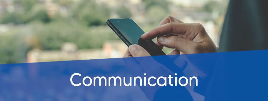 contacter les services de communication