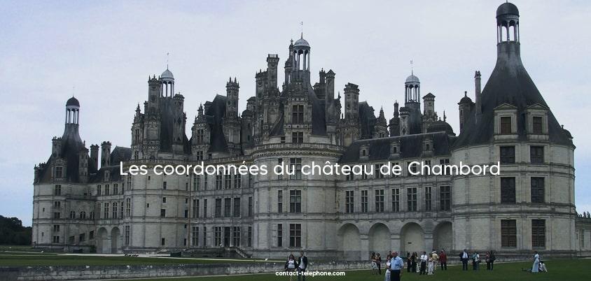 Adresse, telephone et horaires de Chambord